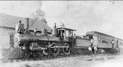Silver Springs, Ocala & Gulf Railroad engine number 2 is shown in 1901. Built by Baldwin in 1888, the engine served on Henry Plant's South Florida railroad and Savannah, Florida & Western railway, and then the ACL before being scrapped in 1914. The Silver Springs, Ocala & Gulf Railroad was taken over by the Plant System in July of 1901. Courtesy State Archives Collection