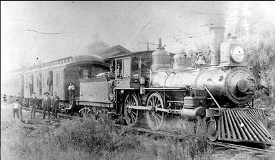 Jacksonville, Tampa, & Key West railway 4-4-0 engine number 6 is shown in 1898. The railroad provided a direct connection between Jacksonville and central Florida places like Sanford and Titusville. The locomotive was built by Baldwin in 1884, and was numbered 606 by Plant's SF&W, then 566 by the ACL. Courtesy State Archives Collection