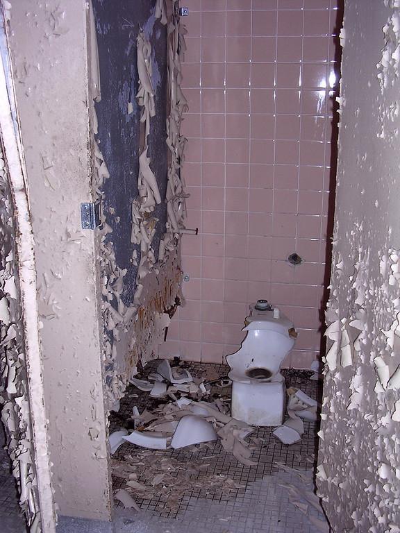 Each bathroom had two toilet stalls. <br /> <br /> 4-23-07