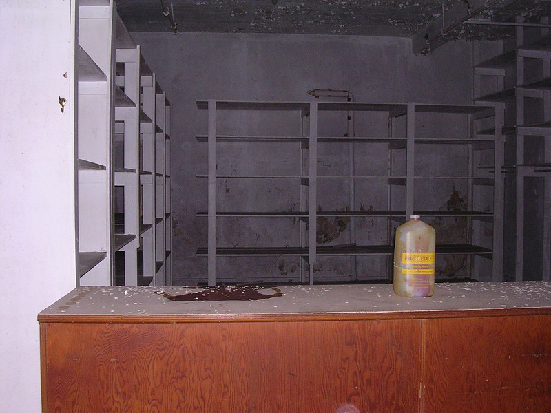 The clothes closet, where the patients' clothing was kept after laundering. <br /> <br /> 4-23-07