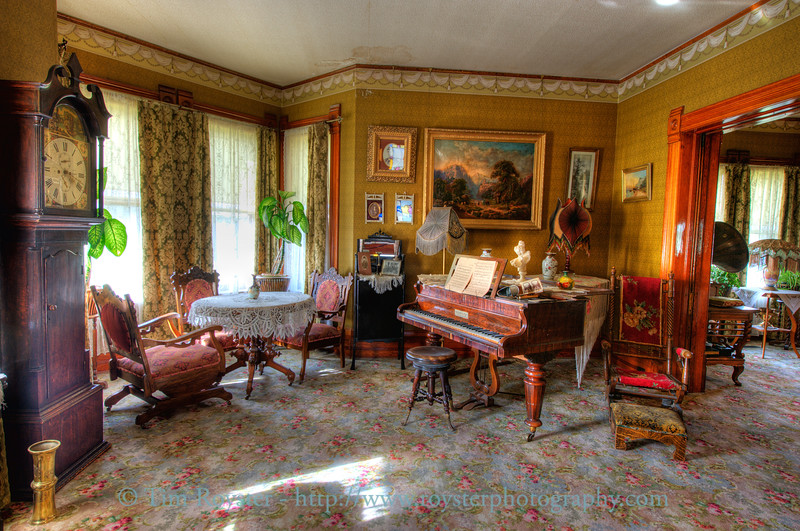 The front parlor of the Peter Prince house. This house was constructed by an early businessman and entrepreneur in downtown Calgary, Alberta, Canada in 1894. It was moved to Heritage Park historic village in 1967.
