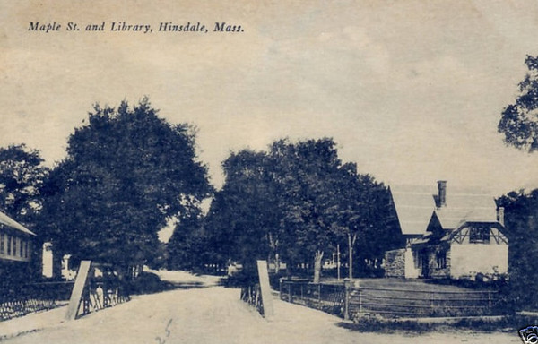 Hinsdale Maple St with Library
