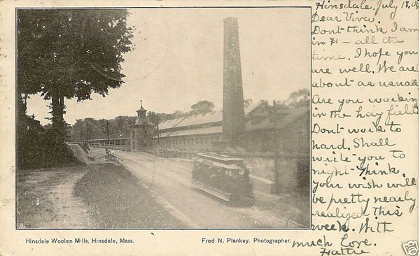 Hinsdales Hisdale Woolen Mill 1906