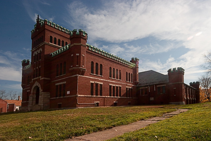 <center>Woonsocket Armory<br>Woonsocket, Rhode Island<br>The Woonsocket Armory was built in 1912 and housed the Rhode Island National Guard through most of the 20th century.</center>