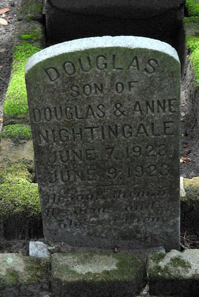 Douglas Nightingale<br /> Son of Douglas Nightingale and Anne Nightingale - Oak Grove Cemetary in downtown Brunswick, Georgia - Nightingale Plot