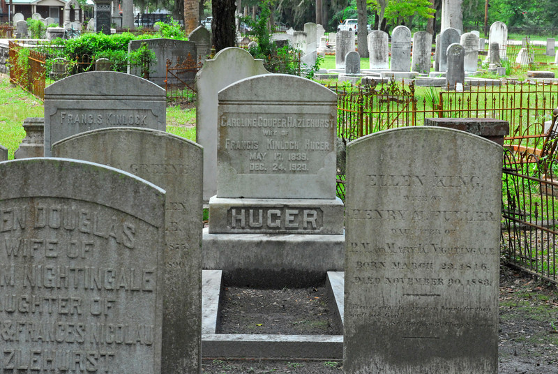 Huger<br /> Huger - Oak Grove Cemetary in downtown Brunswick, Georgia - Nightingale Plot