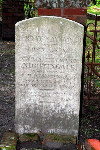 Murray Maynadler Nightingale<br /> Son of John Alsop Nightingale and Maria Heyward Nightingale, Grandson of P.M. Nightingale - Oak Grove Cemetary in downtown Brunswick, Georgia - Nightingale Plot