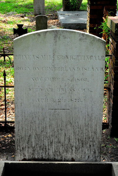 Phineas Miller Nightingale<br /> Born on Cumberland Island in 1803 - Oak Grove Cemetary in downtown Brunswick, Georgia - Nightingale Plot