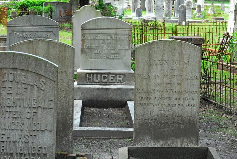 Huger<br /> Huger - Oak Grove Cemetary in downtown Brunswick, Georgia - Nightingale Plot