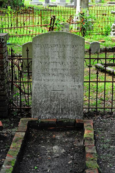 Brailsford Troup Nightingale<br /> Son of John Alsop Nightingale and Maria Heyward Nightingale - Oak Grove Cemetary in downtown Brunswick, Georgia - Nightingale Plot