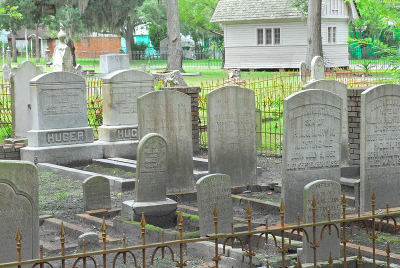 Oak Grove Cemetary in downtown Brunswick, Georgia - Nightingale Plot