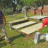 OGCS mid-process of cleaning graves with D2 06-10-17