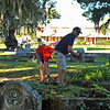 Oak Grove Cemetery Society - Brunswick, Georgia - Cleanup Day with Keep Golden Isles Beautiful 10-13-18