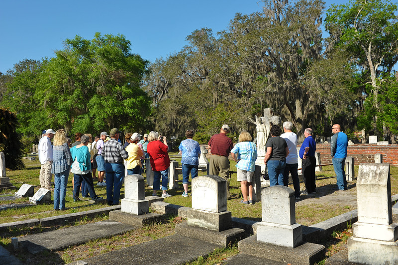 Oak Grove Cemetery Tour in St. Marys, GA hosted by Kay Westberry 04-14-18