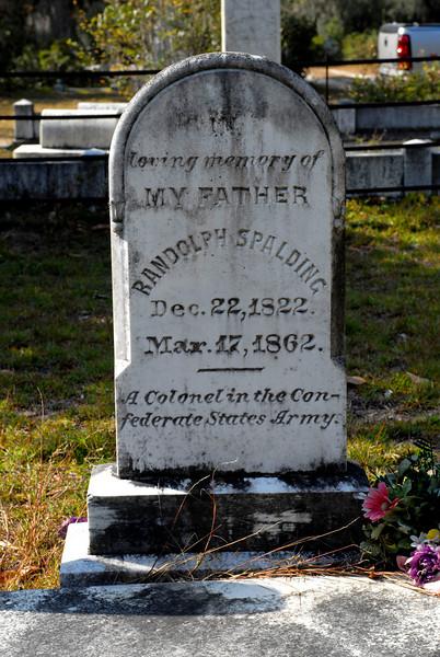 Spalding - Randolph Spalding b.1822 d.1862 (CSA)