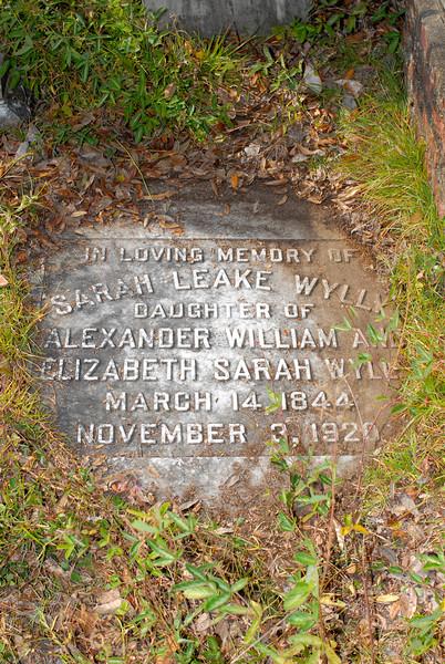 Wylly - Sarah Leake Wylly b.1844 d.1920 daughter of Alexander William and Elizabeth Sarah Wylly
