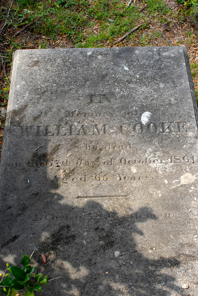 Cooke - William Cooke d.1861 at 65 Years of Age