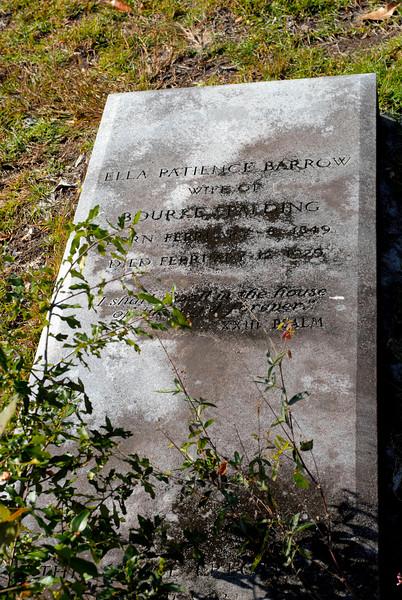 Spalding - Ella Patience Barrow Spalding b.1849 d. 1928? - Wife of Bourke Spalding
