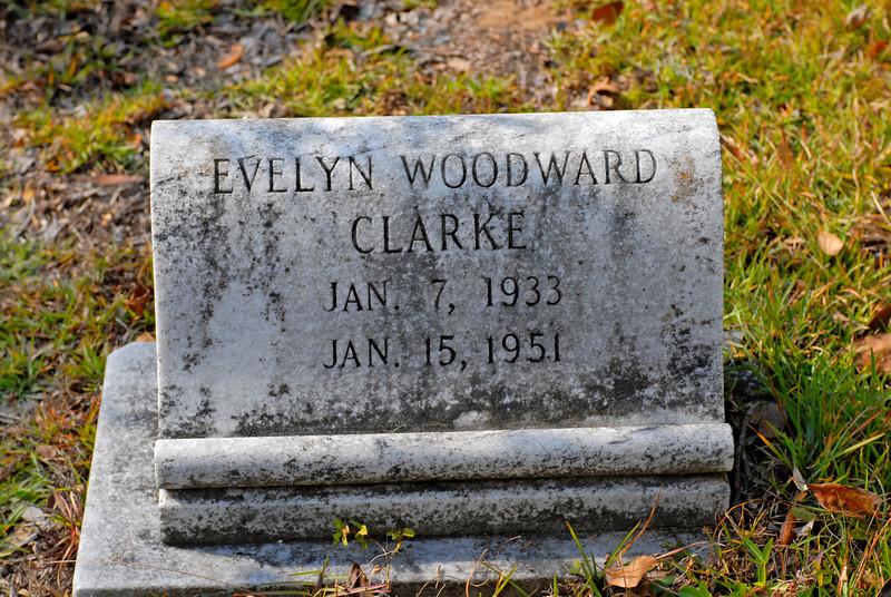 Clarke - Evelyn Woodward Clarke b.1933 d.1951