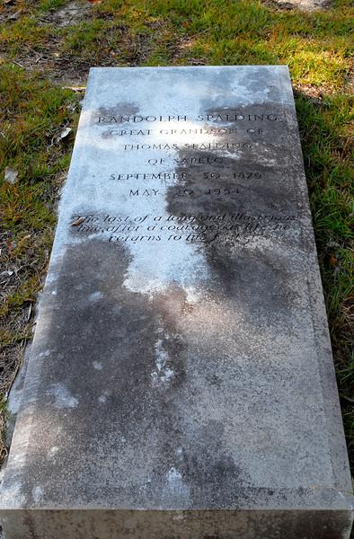 Spalding - Randolph Spalding b.1879 d.1954 - Great Grandson of Thomas Spalding