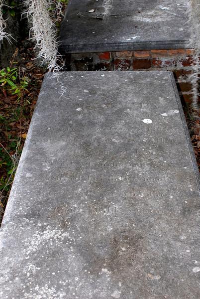 Wylly - John (?) Wylly a date seen as 1854