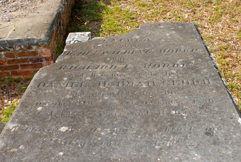 Morris - ? Spalding Morris - age 32 - a date 1856 - wife of Richard ? Morris, daughter of Daniel H. Brailsford (shot be Forbes)