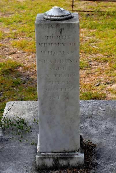 Spalding - Thomas Spalding d.1819 at 6 Years Old