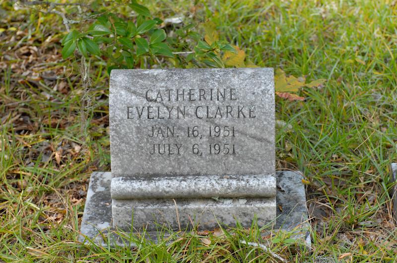 Clarke - Catherine Evelyn Clarke b.01-16-1951 d.07-06-1951