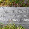Wylly - Sarah H. Wylly b.1860 d.1873