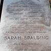 Spalding - Sarah Spalding d.1843 at the age of 65