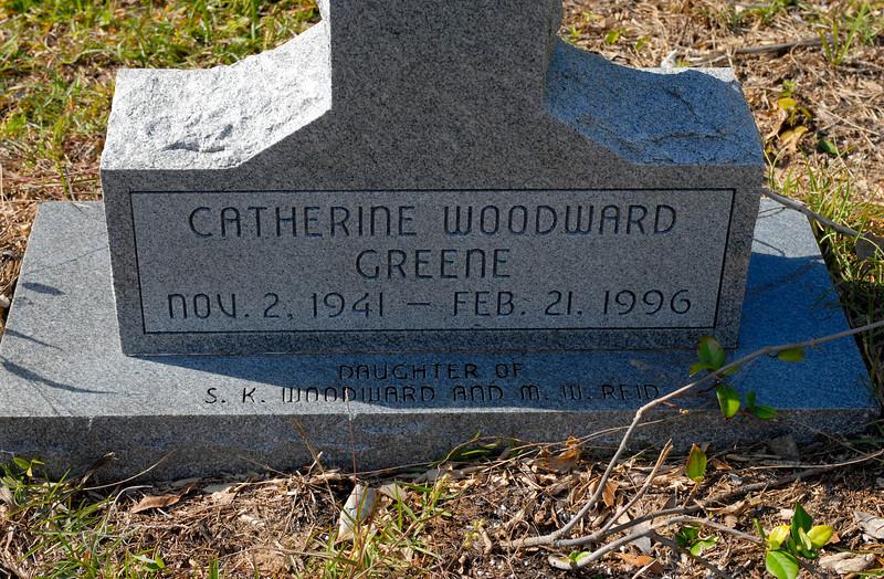 Greene - Catherine Woodward Greene b.1941 d.1996 - daughter of S.K. Woodward and M.W. Reid