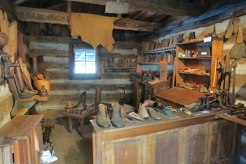 22. Shoemaker Shop (interior) -- ca. mid-1800's