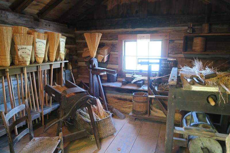 20. Broom Shop (interior) -- ca. mid-1800's
