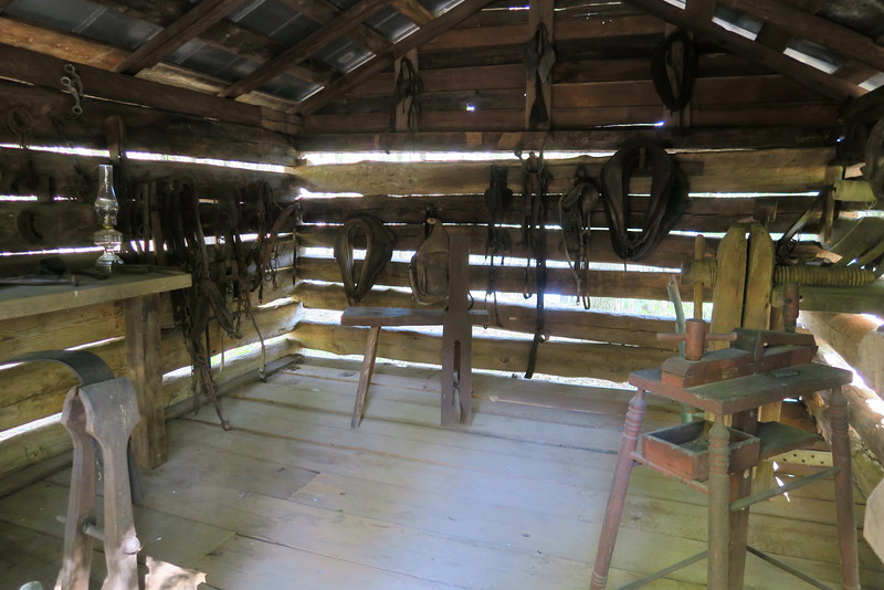 97. Log Tack House (interior)  -- ca. 1850