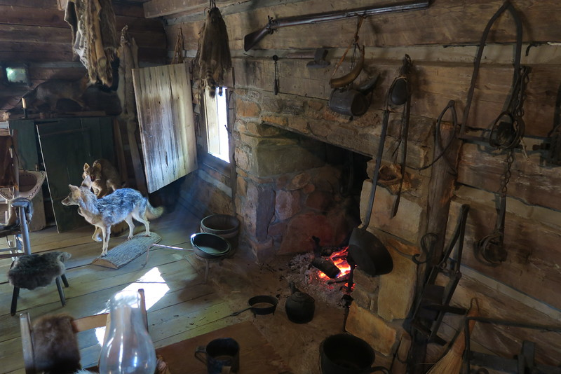 68. Trappers House (interior) -- ca. 1850
