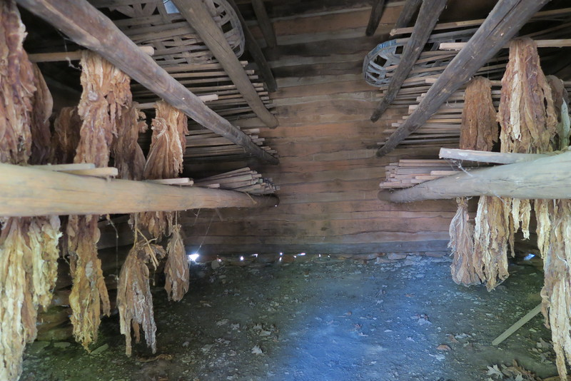 35. Tobacco Barn (interior) -- ca. 1800's