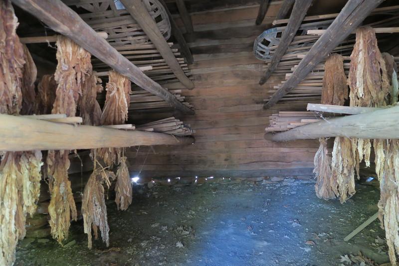 35. Tobacco Barn (interior) -- ca. 1800's