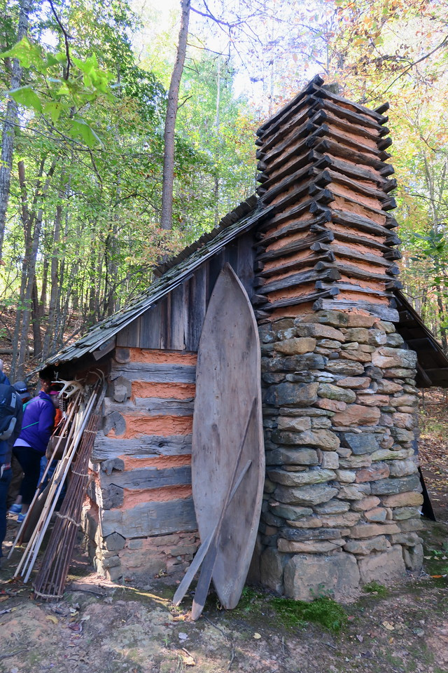 92. Native American Log Dwelling -- ca. mid-1800's