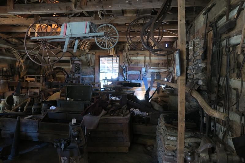 57. Wheelwright Shop (interior) -- ca. 1800