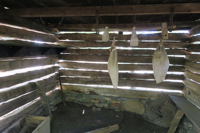 10. Smoke House (interior) -- ca. 1800's