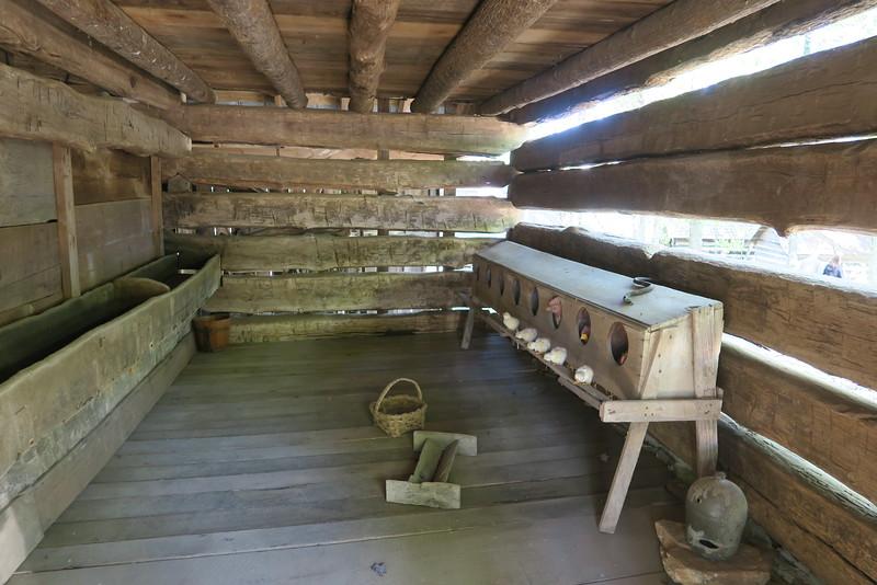 3. Rhyne Barn (interior)  -- ca. 1800's