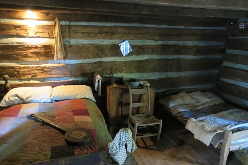 60. Cline Slave/Tenant House (interior) -- ca. 1860