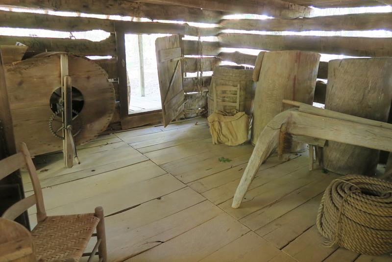 63. Jones Barn (interior) -- ca. 1800's