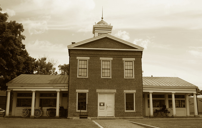 <i>Old Market House (ca. 1845)</i> - Dating back to Galenas glory years, this building was once the center of commerce in the town.  The building also was home to the town government and jail for a number of years.
