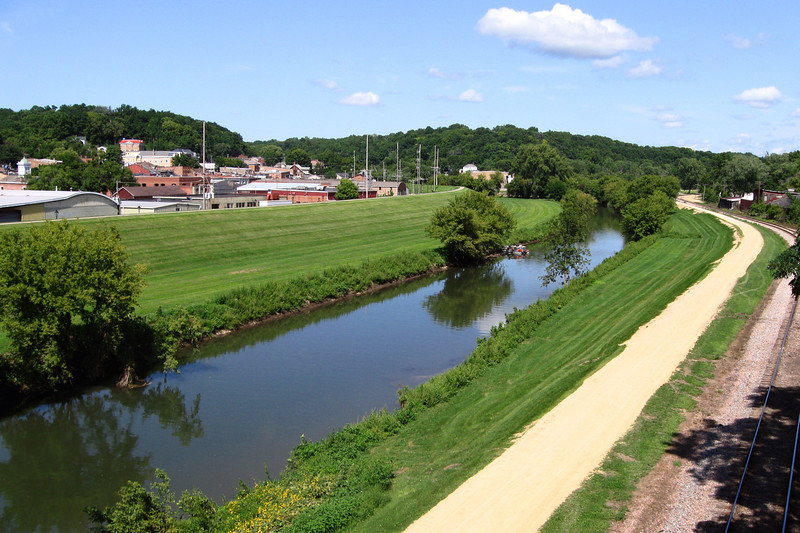 A shot of the east end of town from the footbridge over the Galena River...