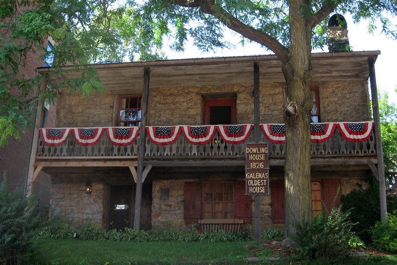 <i>Dowling House (ca. 1826)</i> - The oldest structure in Galena.
