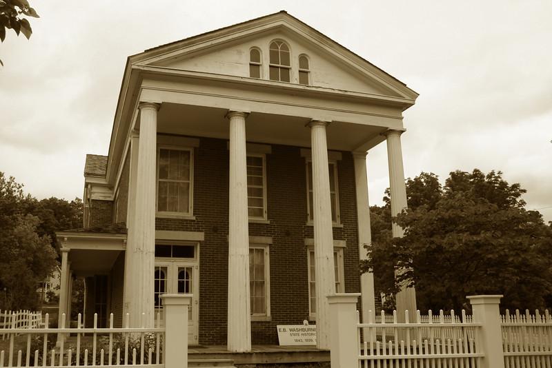 <i>Elihu B. Washburne House (ca. 1843)</i> - As the name suggests this was the house of Elihu Washburne, a congressman, ambassador, and advisor to Presidents Lincoln and Grant.  Washburne lived in the house until 1882.