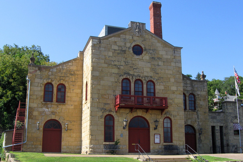 <i>Turner Hall (ca. 1874)</i> - The original Turner Hall only included the left half of the present structure.  It housed many important community gatherings in its early years.  It burned and was quickly rebuilt in 1926 and served the town for many more years.