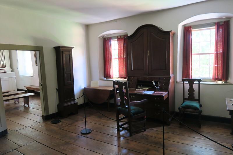 Single Brothers' House (ca. 1769, 1786) -- Vorsteher's Room