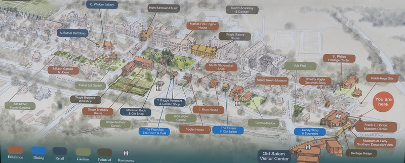 Old Salem Site Map